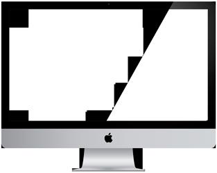 ordenador mac plantilla para proyecto web
